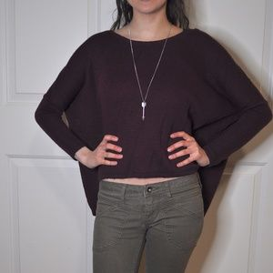 Burgendy bat-wing sweater